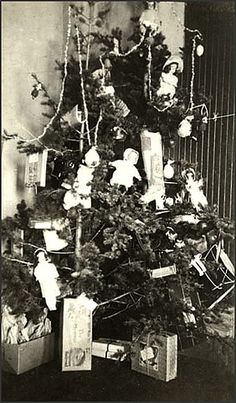Christmas Tree, Morley Indian Residential School, circa 1900.