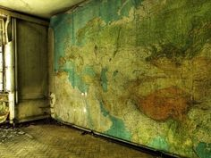 Recycled Maps On Walls