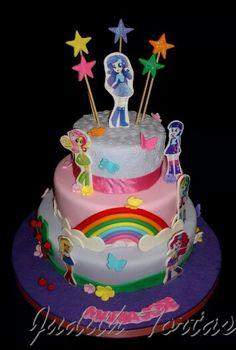 "Torta decorada con fondant ""Equesyria Girl"""