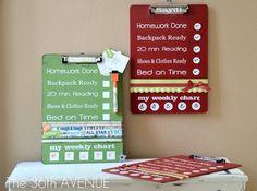 DIY Dry Erase Clip Boards