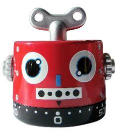 KITCHEN TIMER-ROBOT RED