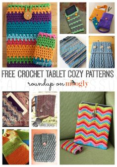 10 Free Patterns for #Crochet Tablet Cozies! crochet ideas, crochet tablet pattern, free patterns for crochet, crochet cozies, crochet patterns, fiber art, crochet tablet cover, tablet cozi, crochet cozy pattern
