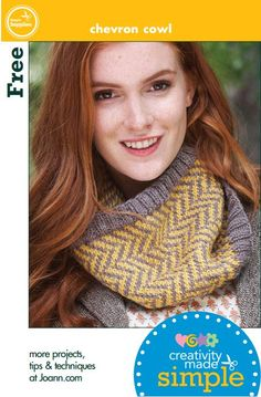 Love this #chevron patterned cowl! #knit #Cre8simple #CreativityMadeSimple @CRE8TIME