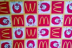 Ronald McDonald Novelty Print Cotton Fabric 2 by debscrafts55, $8.00