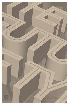 #3dtype depth #typography #design