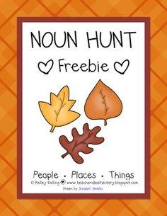Noun Hunt - Read the Room Activity {Freebie}