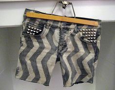 diy chevron jean shorts