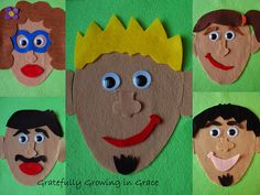 Home made felt faces craft for kids