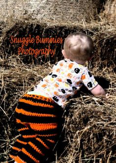 #halloween #toddler #longies #child #baby #infant #pants #crochet