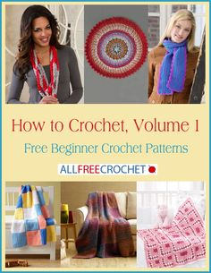 How to Crochet, Volume 1: Free Beginner Crochet Patterns free eBook