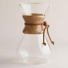 Beautiful and makes killer coffee.  Chemex 8-Cup Coffeemaker
