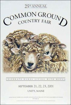 MOFGA 2001 Fair Poster country fair, farmers, ground fair, fair poster, ground countri, countri fair, 2001 poster, common ground, posters