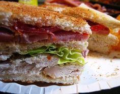 Club Sandwich Recipe (American chicken and bacon sandwich)