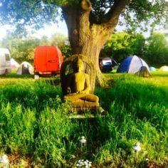 Tree shrine - on a summer retreat! https://thebuddhistcentre.com/internationalretreat