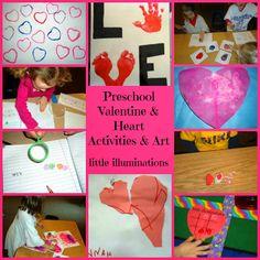 little illuminations: Preschool Valentine and Heart Activities and Art