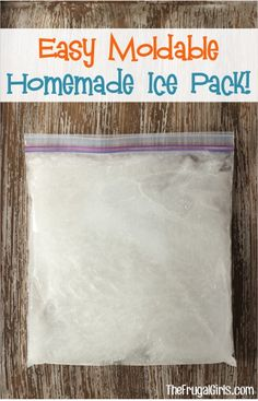Easy DIY Homemade Moldable Ice Pack! ~ from TheFrugalGirls.com