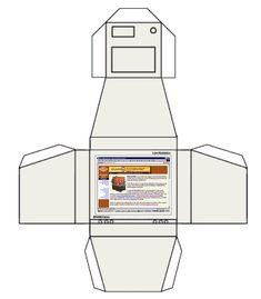 Ноутбук из бумаги шаблон