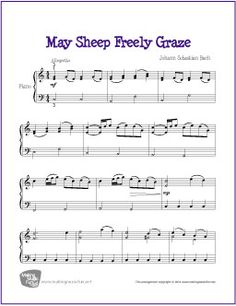 May the Sheep Freely Graze | Free Sheet Music for Piano