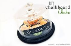 DIY Chalkboard Painted Cloche Tutorial - Cherished Bliss