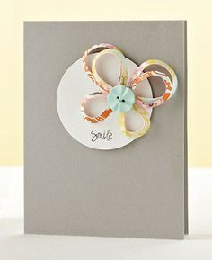 Smile Butterfly Card by Alicia Thelin - via Moxie Fab World