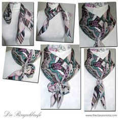 Sjaals knopen on pinterest tie a scarf ties and shawl - Hermes tuch binden ...