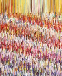 shredded paint swatch art