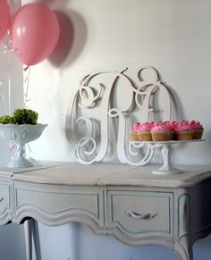 Extra Large Cut Out Wood Monogram ($60)