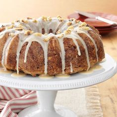 Caramel Apple Cake Recipe from Taste of Home -- shared by Marilyn Paradis of Woodburn, Oregon