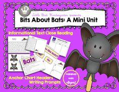 Little Bird Kindergarten: Bits About Bats (Including informational text close reading passage!)