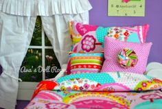 American Girl Doll Bedding 4 Piece set for 18 inch dolls on Etsy, $26.00