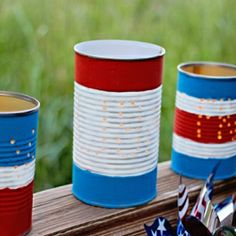 Patriotic Luminaries- re-purposed  perfect for 4th of July parties