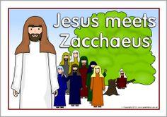 Jesus meets Zacchaeus visual aids (SB9929) - SparkleBox