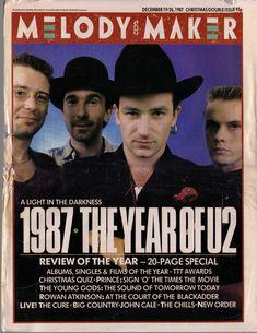 U2, Melody Maker cover, December 1987  #u2newsactualite #u2newsactualitepinterest #bono #theedge #larrymullen #adamclayton #u2 #music #rock