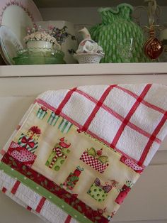 shabby chic christmas, shabbi chic, christmas towels, christma idea, christmas ideas, christma towel
