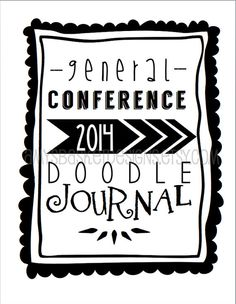 2014 LDS General Conference Doodle Journal  by amysbasketdesigns