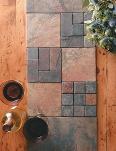 This DIY tile table runner is a practical holiday table topper - it will stand up to liquid spills, hot dishes, fresh-out-of-the-oven bakeware and more.