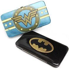 Wonder Woman and Batman wallets