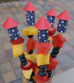 Easy DIY firecracker Skewers - Canary Street Crafts