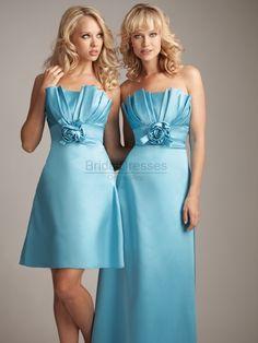 blue bridesmaid dress, great!