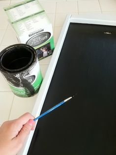 Two $0 Easy Home Updates, Chalkboard and Curtains |  Rebecca's RoundUp