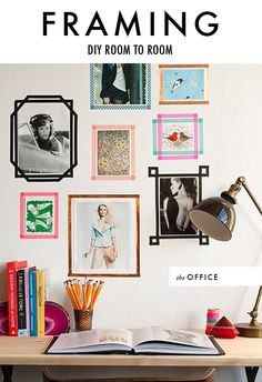 DIY frames with washi tape