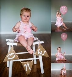sweet and simple first birthday photo shoot