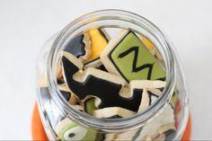 Jack-O-Lantern in a jar