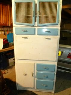 Retro Vintage Kitchen Pantry Larder Cupboard Unit Original 50s