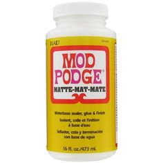 Mod Podge is the original all-in-one sealer, glue and finish. It's perfect for wood, paper, fabric, and other porous surfaces as a glue, varnish, or to seal and protect items prior to use in craft projects.