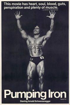 Pumping Iron (1977) starring Arnold Schwarzenegger & Lou Ferrigno