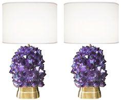 1stdibs.com | Pair of Amethyst & Bronze  Lamps