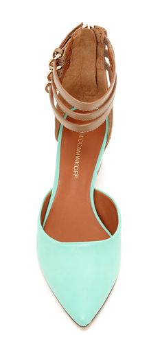 Mint Ankle Strap Heels