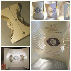 Invitaciones originales en papel moldeado de Olga Cuzuioc