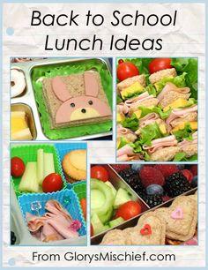 Back To School Kids Lunch Ideas - from GlorysMischief.com
